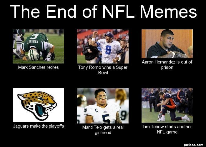 frabz The End of NFL Memes Mark Sanchez retires Tony Romo wins a Super 42be75 the end of nfl memes mark perception vs fact picloco