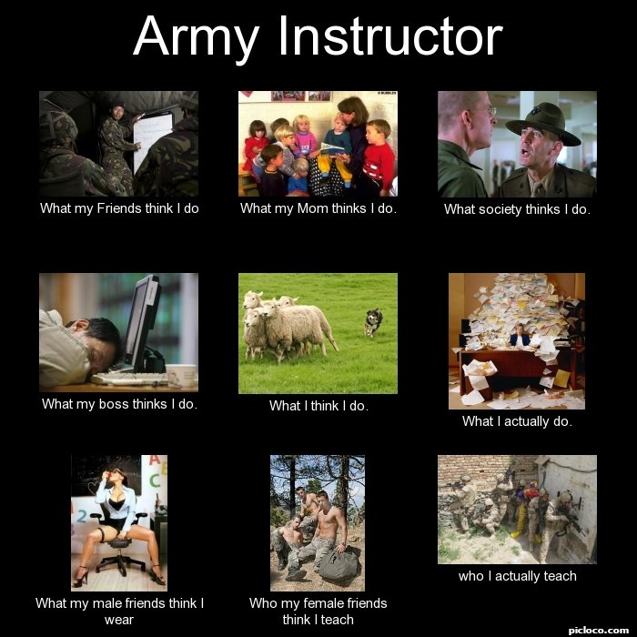 Army Instructor What My F :Perception Vs Fact