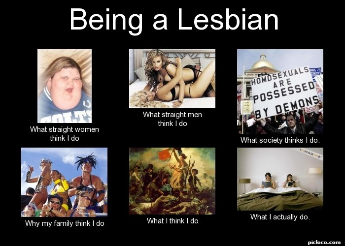 Lesbian and straight women
